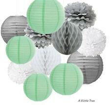 24 Farolillos de papel color blanco y rosa A Liittle Tree A Mix 14 x 8 + 10 x 12