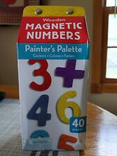 Wooden Magnetic Numbers Painter's palette Mudpuppy 40 Pieces