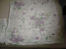 romantische 6 tlg. Biber Bettwäsche, weiß mit Blumen 135/200+80x80 mit 4 Kissen