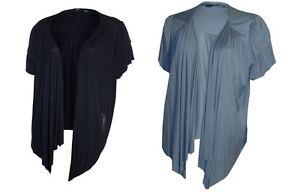 New Ladies Ex BHS Waterfall Short Sleeve Bolero Cropped Shrug Cover Up Top Cardi