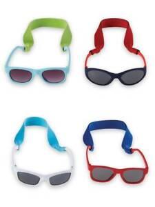 Mud Pie Baby Boys Sunglasses with Neosprene Strap  0-2 Years