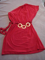 New Womens  Wrapper Red One Shoulder Dress Size Small  4-6