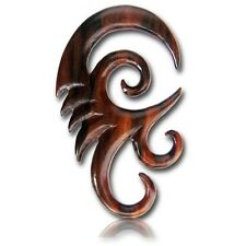 PAIR 2G (6MM) SPIRALS SONO WOOD TALONS PLUGS EAR PLUG HANGER GAUGE HOOKS CLAW
