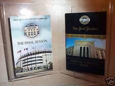 2008 New York Yankees FINAL SEASON & 2009 1st SEASON N.Y.YANKEE POCKET SCHEDULES