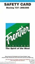Safety Card - Frontier - B737 200 300 - 1999 (SC561)