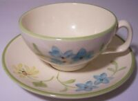Franciscan Pottery Daisy Cup/Saucer Set