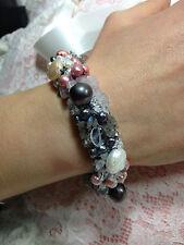 bracciale perle colorate quarzo gioielleria la perla macramè made in italy