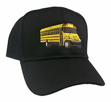 Yellow School Bus Driver Mens Embroidered Cap #40-8300