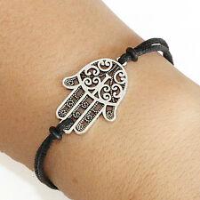 Hamsa Symbol Hand Bracelet Lucky Friendship Silver Plated Charm Bracelet