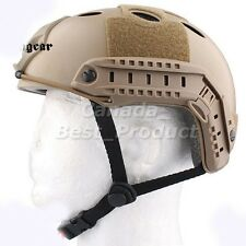 Emerson Fast PJ Style Tactical Airsoft Helmet Without Goggles Low Price DE Tan