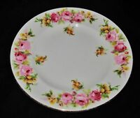 """Royal Doulton, """"A"""" Pink Roses, Bread Plate"""