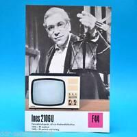 Fernsehtischgerät Ines 2106 U DDR 1970 47-Bildröhre Prospekt Werbung DEWAG F44 E