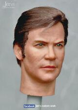1/6 CUSTOM REHAIR REPAINT Star Trek Captain Kirk hot figure head sculpt toys