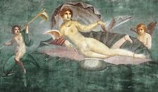 Geburt der Venus Muschel Pompeii Neapel Antike Fresko Göttin  Pompeji Platte 17