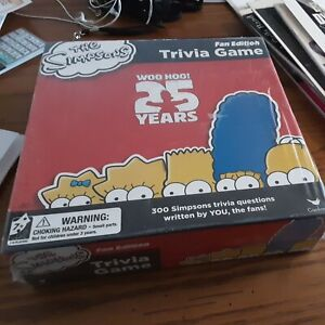 THE SIMPSONS FAN TRIVIA GAME STILL SEALED
