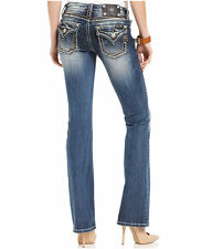 Miss Me Size 33 (15/16) LOOSE SADDLE STITCH BORDER BOOT CUT JEANS JS5014B124 NWT