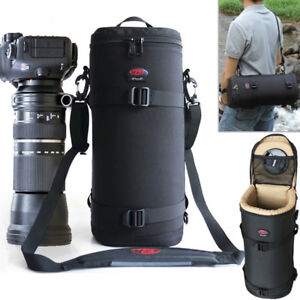 Waterproof Camera Lens Bag Shoulder Bag Pouch Padded Case For 150-600 200-500mm