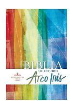 RVR 1960 Biblia de Estudio Arco Iris multicolor tapa dura (Span... Free Shipping