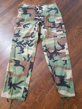 Woodland Camo BDU Cargo Pants - Mens Military Camouflage Pants Size Large Long