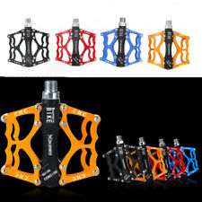 """BICYCLE MOUNTAIN MTB BMX BIKE CYCLING 3 BEARING ALLOY FLAT-PLATFROM PEDALS 9/16"""""""