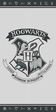 Harry Potter Wappen Hogwarts Weiß Schwarz Strandtuch Spaggia 70x140cm Original