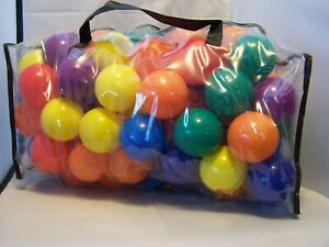Lot of Approx. 50 Colorful Plastic Play Balls - NIB