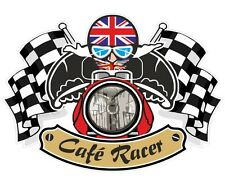 Union jack drapeau britannique cafe racer ton up club rétro moto casque autocollant