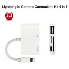Lightning Camera Card Reader 4 in 1 Adapter for Apple iPhone