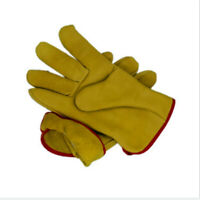 Premium Fleece Lined Lorry Leather  Driver Glovers Safety Work Hand Protection