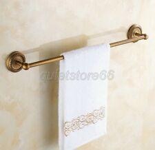 Antique Brass Wall Mounted Bathroom Single Towel Bar Rail Rack Holder qba085