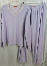 Vintage 80's Velour Two Piece Pajama Set Xl Gloria Vanderbilt Purple Unworn Wow