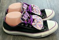 Converse All-Star Womens Sneakers Size 9 Double Tongue Black/Purple