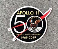 NASA APOLLO 11 MISSION 50TH ANNIVERSARY STICKER Authentic NASA SPACE Made in USA