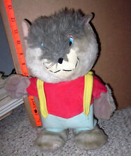 LITTLE BOPPERS werewolf monster plush doll 1988 Wolf Man toy World of Wonder OG