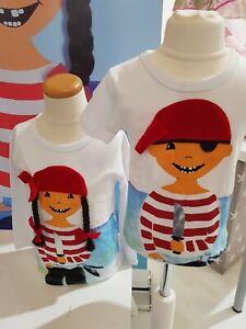 ZIEGFELD Kids Shirt Piratin mit Zöpfen KURZARM Gr. 80 - 128 NEU