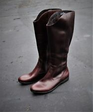 """Born Women's Size 6, 15"""" Tall, Soft Leather Boots In Brown #CQH12 w/ side zipper"""