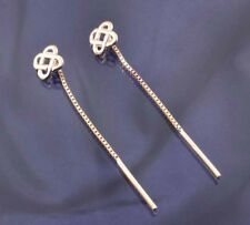 9ct Yellow Gold Celtic Knot Pull Through Earrings.