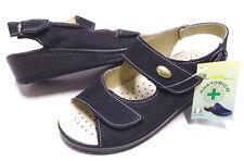 Sandali donna linea comoda Vera Pelle zeppa comfort GoldenFit MadeInItaly 696cr