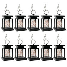 10Pcs Waterproof Solar Yard Hanging Lantern Lamp Led Fairy String Light