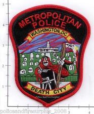 Washington DC - Metropolitan Police District of Columbia Police Patch Death City