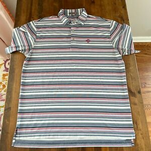 Peter Millar Polo Golf Shirt Summer Comfort Size Large Omaha Country Club Mens