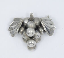 """Vintage Signed EML Iguala Mexico Sterling Silver Grape Pin Brooch Jewelry 1.25"""""""