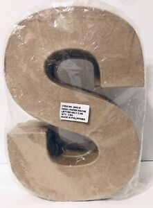 "3x Paper-Mache Letter ""S"" 