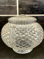 Vtg Clear Diamond Pattern Glass Deco Ceiling Hanging Light Fixture Shade Globe
