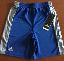 Nwt Boys Size 5 ~ Adidas Royal Blue & Gray Shorts ~ Msrp $26.00