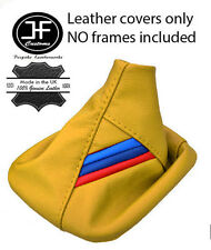 YELLOW LEATHER M/// FITS BMW E36 E46 1991-2005 3 SERIES GEAR GAITER SHIFT BOOT