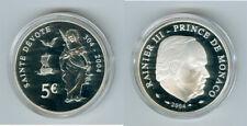 Monaco  5 Euro 2004 Sainte Devote PP  Nur 14.999 Stück!