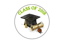 Personalised graduation End Term School Teacher Round Stickers 24 s1 Any Color