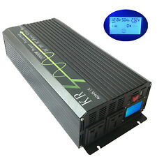 LCD Off Grid Power Inverter 2000W 12V/24V to 110V/220V Pure Sine Wave with USB