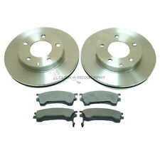 FRONT 2 BRAKE DISCS AND PADS SET NEW FOR MAZDA MX6 626 XEDOS6 MOST MODELS